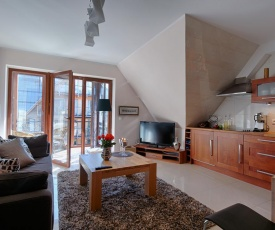 Apartament Diament w Centrum z balkonem